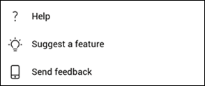 Help and feedback android v2