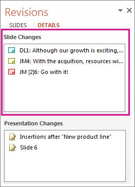 Slide Changes