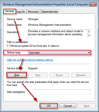 Now check whether Security Center can be started. If not, start theRemote Procedure Call(RPC) and Windows Management Instrumentation services by using the steps provided above.