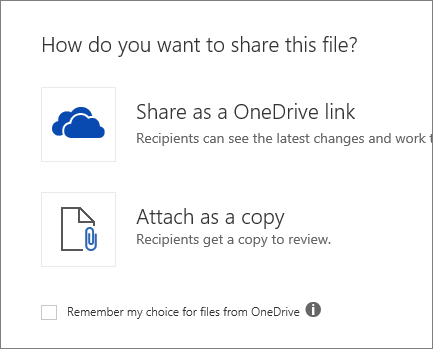 How do you want to share this file?