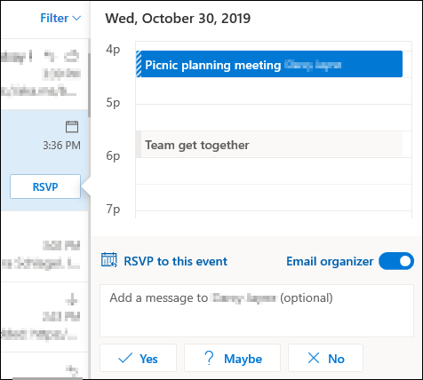 Options for RSVP