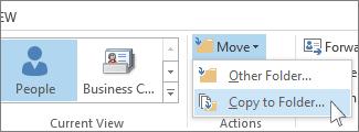 Copy to Folder command on the Move menu