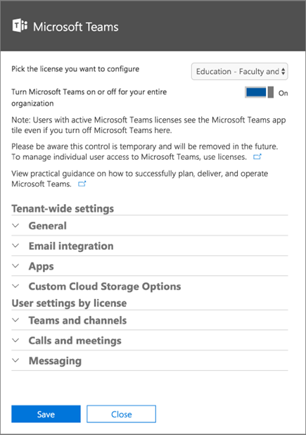 Enable teachers to delete conversations in Microsoft Teams
