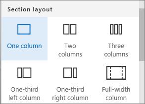 One column