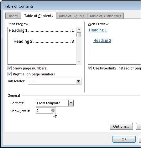 Format Or Customize A Table Of Contents - Word