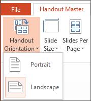 Handout Orientation menu