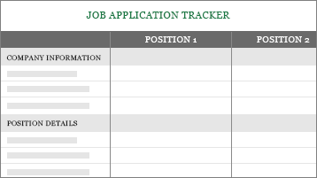 Conceptual image of a job application tracker