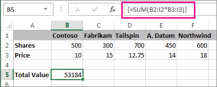 Create an array formula - Office Support