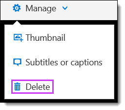 Office 365 Video Delete Video