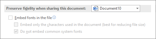 Don't embed fonts