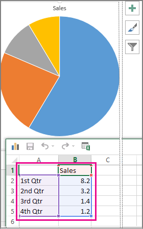 Add a pie chart - Office Support