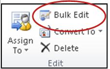 bulk edit button on Ribbon