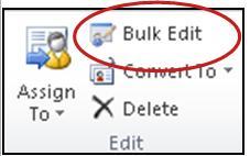bulk edit button on Ribbon