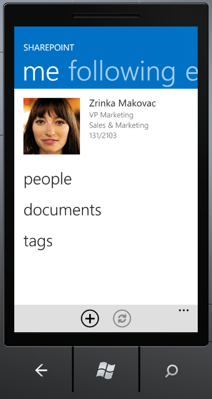 SharePoint Newsfeed App me pivot