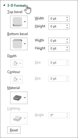 3D format settings