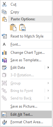 PowerPoint Win32 Edit Alt Text menu for charts