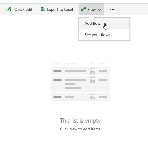 Create a Flow in a SharePoint Online list.