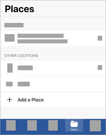 Add a Place screen
