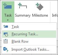 Recurring Task command image