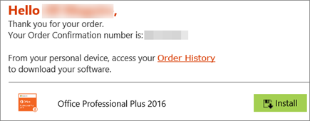 Shows the Install button in the email from the Home Use Program