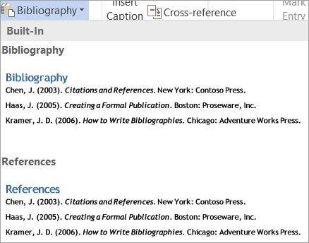 Bibliography gallery