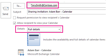 Share an outlook calendar with other people outlook invitation to share mailbox email externally to box and details setting stopboris Image collections