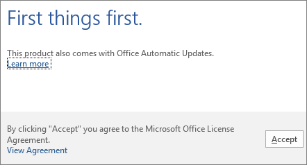 Activating Office after downloading and installing from www.office.com/setup or www.office.com/myaccount