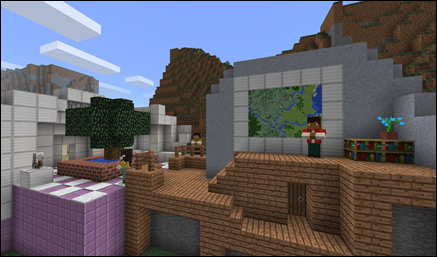 Create a detailed Minecraft world for your event