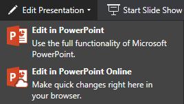 Edit in PowerPoint Online