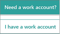 I have a work account option in Microsoft StaffHub mobile app