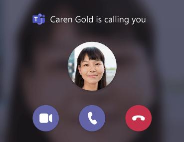 Teams-incoming call notification