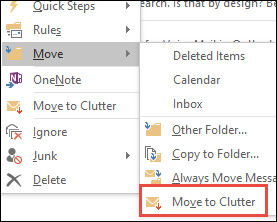 Move to Clutter