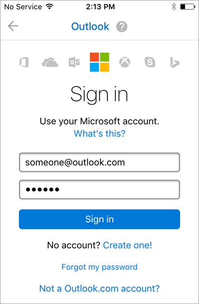 how do i hook up outlook to my iphone