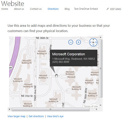 Add Map to website