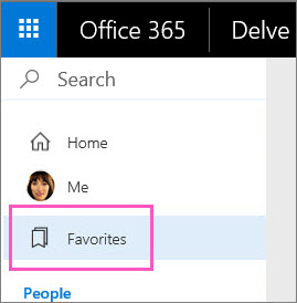 Click Favorites in the left pane