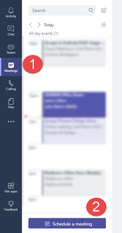 "On the meetings tab click ""schedule a meeting"" to add a meeting to your calendar"