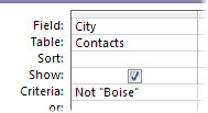 """To exclude a word or phrase, use the """"Not"""" criteria followed by the word or phrase you want to exclude."""