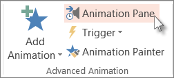 Display the Animation Pane