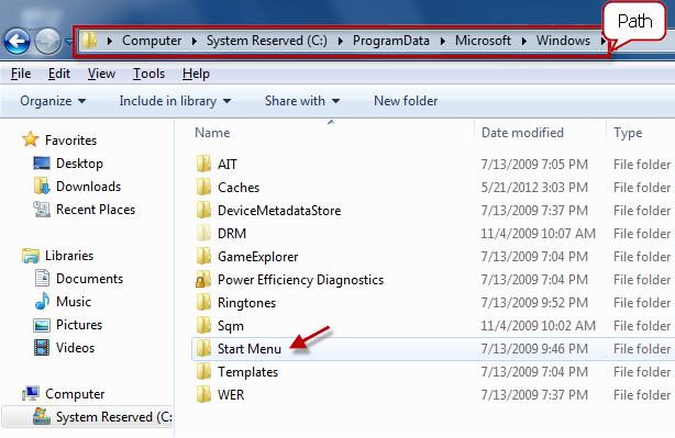 running file of the specific program
