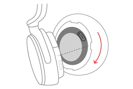 Replacing the Surface earmuff
