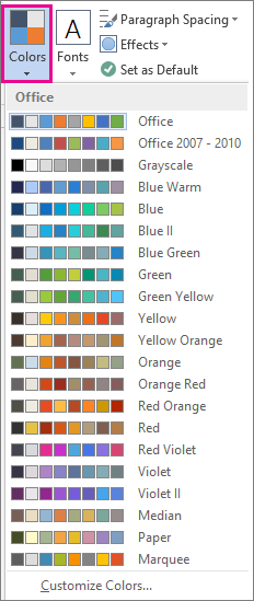 office color palette. Theme Colors Gallery Office Color Palette