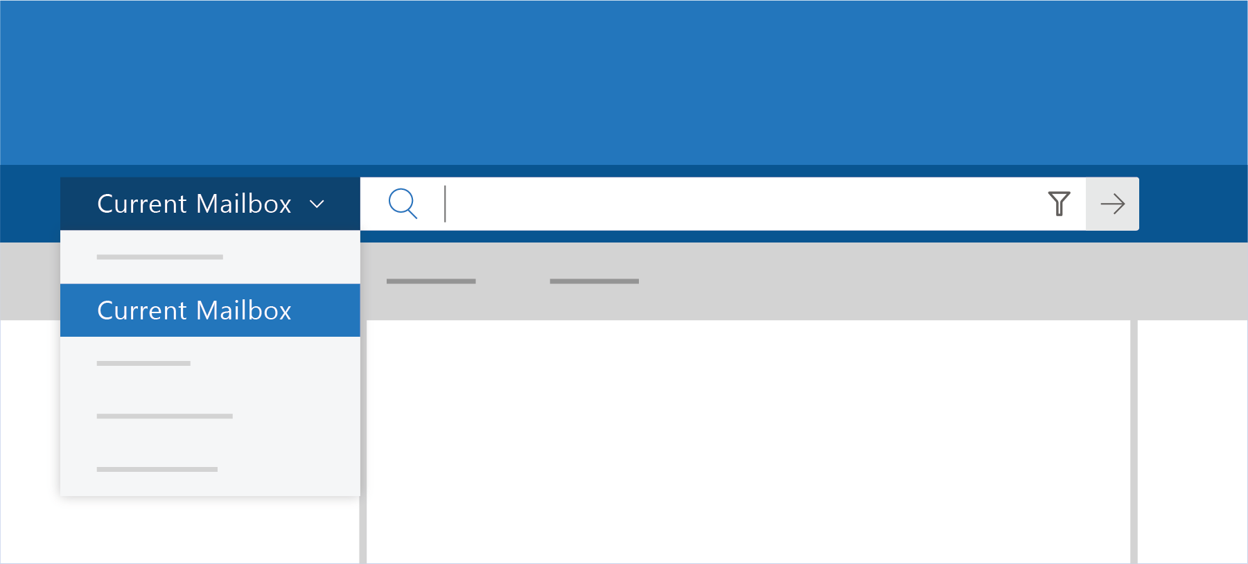 Shows Search in Outlook
