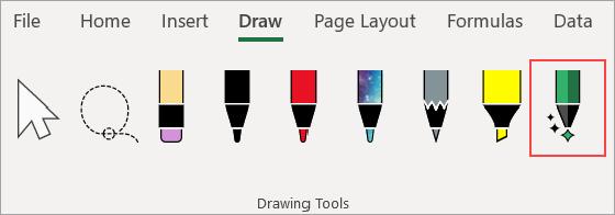 Drawing Tools menu