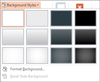 powerpoint create background