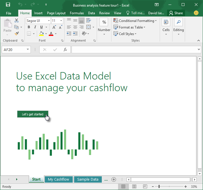 Learn how to use the My Cashflow template with Excel 2016 - Office ...