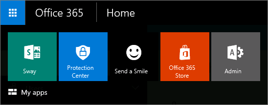 App launcher for the new admin center