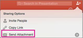 PPT for Mac Send Attachment