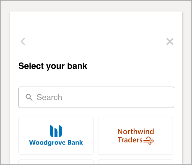 Select your financial institution from the list.