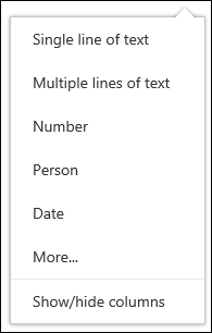 Select the columns to view in a document library