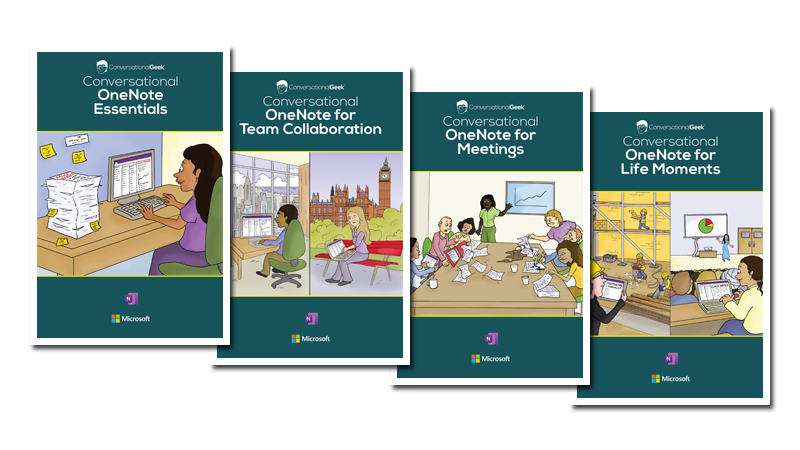 Screenshot of four eBook cover pages